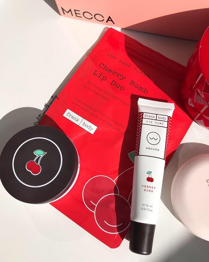 Frank Body Cherry Bomb Lip & Cheek Tint Review & Swatches