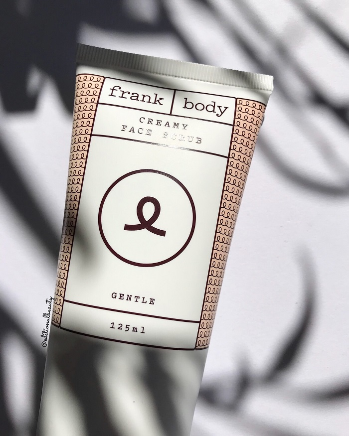 Frank Body Creamy Face Scrub Review (Front Packaging)