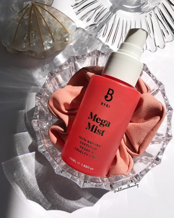 Bybi Beauty Mega Mist Review (Front Packaging)