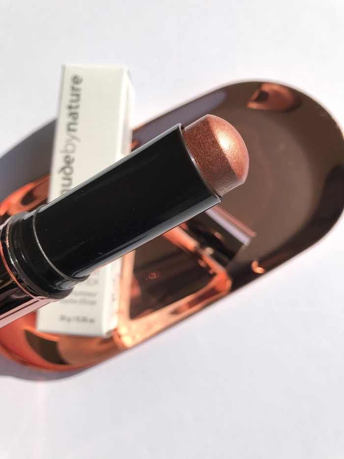 Nude by Nature Touch of Glow Highlight Stick Bronze Review & Swatch